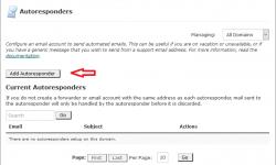 آموزش پاسخگوی خودکار ایمیل در سی پنل Autoresponders