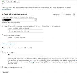آموزش default email address در سی پنل