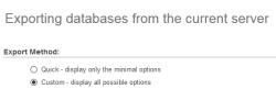 نحوه دریافت فایل backup دیتابیس mysql همراه با فرمت انتخابی