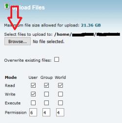 آپلود یا بارگذاری فایل در سی پنل
