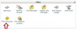 نحوه ایجاد کاربر FTP در cPanel