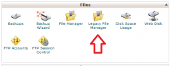 Legacy file manager در سی پنل