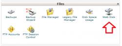 Web Disk در سی پنل