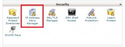 آموزش فعالسازی IP deny manager در سی پنل