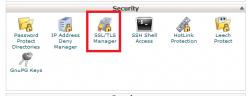 نصب SSL بر روی سی پنل