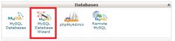 MySQL Database Wizard در سی پنل