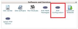 Php Configuration در سی پنل