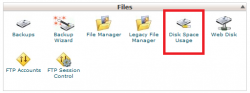 مشاهده مصرف دیسک اکانت بصورت جزئیDisk Space Usage