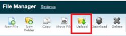 بارگذاری فایل یا فولدر بوسیله File Manager