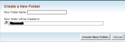 ایجاد فولدر بوسیله File Manager