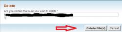 حذف فایل یا فولدر بوسیله File Manager